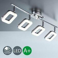 LED Ceiling Light Stylish Square Funky Design Rotating Spot Lights Chrome Finish