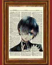 Ciel Phantomhive Dictionary Art Print Anime Picture Kuroshitsuji Black Butler
