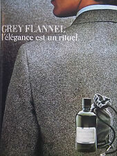 PUBLICITÉ DE PRESSE 1986 GREY FLANNEL EAU DE TOILETTE - ADVERTISING