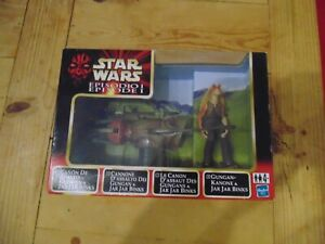 Star Wars Episode 1 Gungan Kanone & Jar Jar Binks Boxed Hasbro
