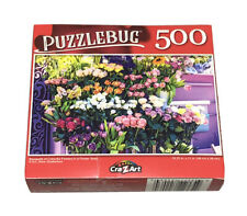 "Puzzlebug ""Bouquets of Colorful Flowers"" Jigsaw Puzzle 18.25"" x 11"" New"