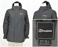 Womens Berghaus Hydroshell Lightweight Jacket Zip Grey Outdoor Size 14UK / L