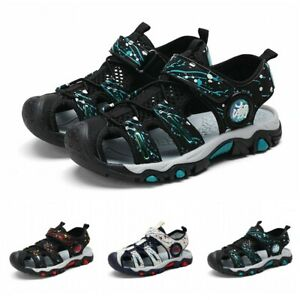Summer Beach Boys Kids Comfort Sandal Closed Toe Athletic Outdoor Sport Shoes BB