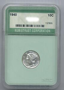 1940 Proof Mercury dime housed in a slab see details below!
