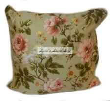 Ralph Lauren Yorkshire Rose Green Floral Cream Decorative Pillow New $130