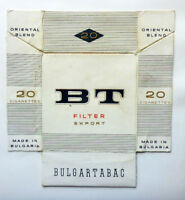 OLD VINTAGE BULGARIAN CIGARETTE - TOBACCO PACKET LABEL. BT EXPORT