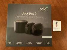 Arlo - Pro 2 2-Camera Indoor/Outdoor Wireless 1080p Security Camera System Black