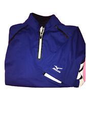 Mizuno Impermalite Flex Lightweight Pullover Waterwind Protection Blue Size L.