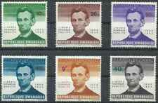 Timbres Personnages Lincoln Rwanda 92/7 ** lot 26311