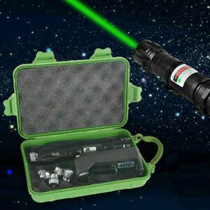 10miles Green 1MW 532NM Laser Pointer Pen Adjustable Focus Charger Waterproof UK