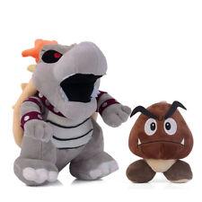 2PCS Super Mario Bros Bowser Bones Koopa Goomba Plush Toy Stuffed Doll Xmas Gift