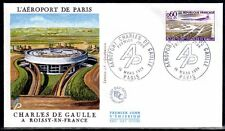 FRANCE FDC - 878 1787 2 AEROPORT CHARLES DE GAULLE 16 3 1974 - LUXE