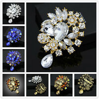 Women Wedding Party Rhinestone Brooch lot Bouquet Vintage Christmas Gift Brooch