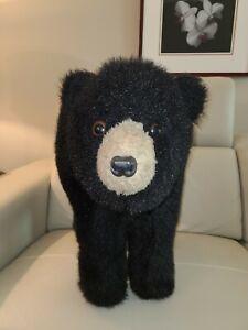 NWT Huge Hen House Standing Black Bear Plush Foot Stool Footrest Ditz Design
