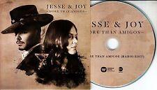 JESSE & JOY More Than Amigos 2015 UK 1-track promo CD