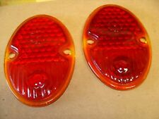 A pair of 1933-1936 Chevy tail light lenses   Q-3