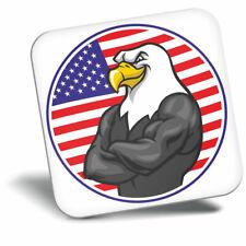 Awesome Fridge Magnet - American Bald USA Eagle Flag Cool Gift #4389