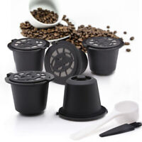 5XCAPSULES FOR Nespresso RECHARGEABLE REFILLABLE REUSABLE COFFEE Pod Cup
