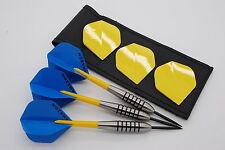 32g Tungsten dart set, John Lowe type barrels, standard flights, stems, case