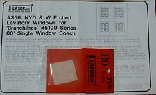 American Model Builders, Inc HO #356 Etched Lavatory Windows for Branchline Trai
