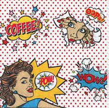 Lot de 4 Serviettes en papier Café Coffee Mania Decoupage Collage Decopatch