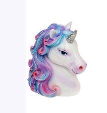 Rainbow Unicorn Head Silver Money Box