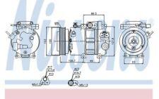 NISSENS Compresor, aire acondicionado KIA HYUNDAI SANTA Fé SONATA i30 89278