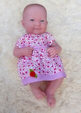 BERENGUER LA NEWBORN PINK DOLL CLOTHES DRESS