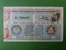 Malaysia Lottery Ticket : Lembaga Loteri Kebajikan & Perkhidmatan Masharakat :#3