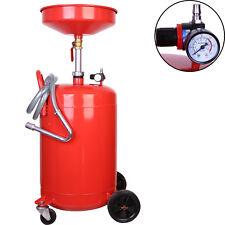 20Gallon Auto Garage Air Oil Waste Drain Drainer 80 Liter With Tank Pan Portable