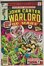 JOHN CARTER WARLORD OF MARS#1 VF/NM 1977 MARVEL BRONZE AGE COMICS