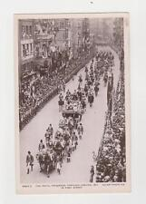 RPPC,Royalty,U.K.,King George V Coronation Procession,Fleet Street,London,1911