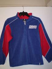 NEW YORK GIANTS Fleece Long Sleeve Pullover REEBOK Youth M MEDIUM BLUE Nice!