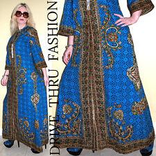 Vtg 70 Boho HIPPIE festival ETHNIC angel DASHIKI Caftan Kimono Drape MAXI Dress