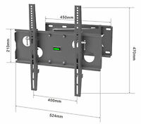 MMT TV Wall mount bracket cantilever Tilt Swivel 400mm vesa 32 to 55 inch screen