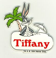Bugs Bunny Name Magnet ~ Tiffany ~ Looney Tunes Collectible ~ Stocking Stuffer
