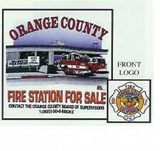 "ORANGE COUNTY (CA) FIRE DEPT ""FIRE STATION FOR SALE"" T-SHIRT (L) RECESSION OCFA"