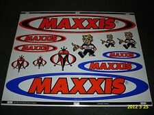 1 AUTHENTIC MAXXIS TYRES STICKER SHEET / DECALS / TIRE / AUFKLEBER