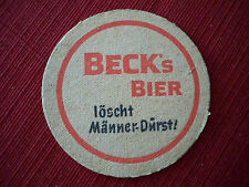 Beck's Bier Coaster 2 sided