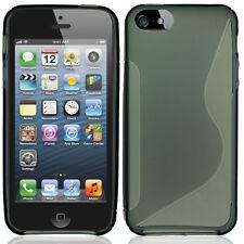 Apple iPhone 5 5S SE TPU Candy S-Line Flexi Gel Skin Case Cover Smoke S-Shape