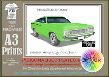 73 VALIANT CHARGER A3 ORIGINAL PERSONALISED PRINT POSTER CLASSIC RETRO CAR