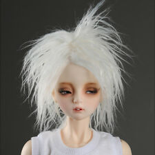 """Dollmore  1/3BJD OOAK Supplier SD wig (8-9)""""  Mohair Short style wig (White)"""