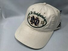 NOTRE DAME ADIDAS THE UNDEFEATED STRAPBACK HAT CAP ADJUSTABLE *SHIPS IN BOX!*