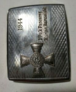 Polish army WW2 1944 1st Armoured Regiment MARIAN BARTOSINSKI CIGARETTE CASE