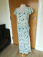 Ladies Dress Size 20 Aqua Yellow Chiffon PAUL SEPARATES Mother Of Bride Party