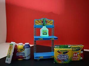 CRAYOLA Glow In Dark GITD Glue TOY Zuru N Toy Shelf 5 Surprise Mini Brands Lot