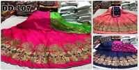 Designer Wedding Silk Lehenga Choli Party Wear Bridal Indian Lengha Choli RTC