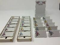 Vtg Japan Shafford Menu Board & 21 Porcelain Place Markers  Wedding Tea Party