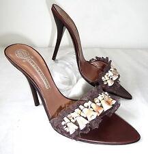 Lez Tropeziennes 39 cuero decorado sandalia es zapatos punta conchas Shoes