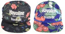 Havoline Superior Truck Oil Texaco Hat Lot of 2 Tropical Hawaiian Snapback Hat